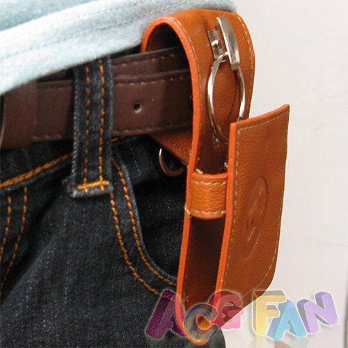 페어리 테일 루시 PU 가죽 열쇠 고리 가방 케이스 키 홀더 W / 벨트 루프 코스프레 의상