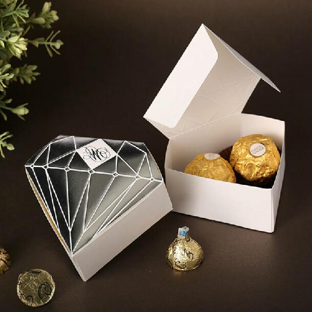 creative diamond design candy boxes classic candy gift chocolate favor boxes wedding gifts sh414
