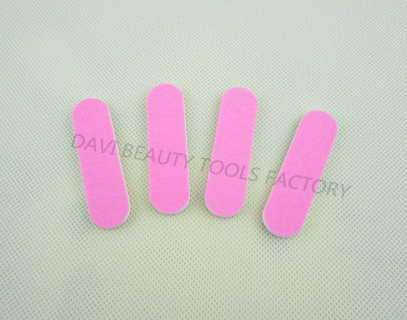 Partihandel-407-mini Emery Board / Parti 6cm Längd Dubbelrosa Färger Sandpaper Mini Nail File för Nail Art