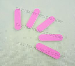 Wholesale Mini Nail Emery Board - Wholesale-407-mini emery board 100pcs lot 6cm length double pink colors sandpaper mini nail file for nail art FREE SHIPPING
