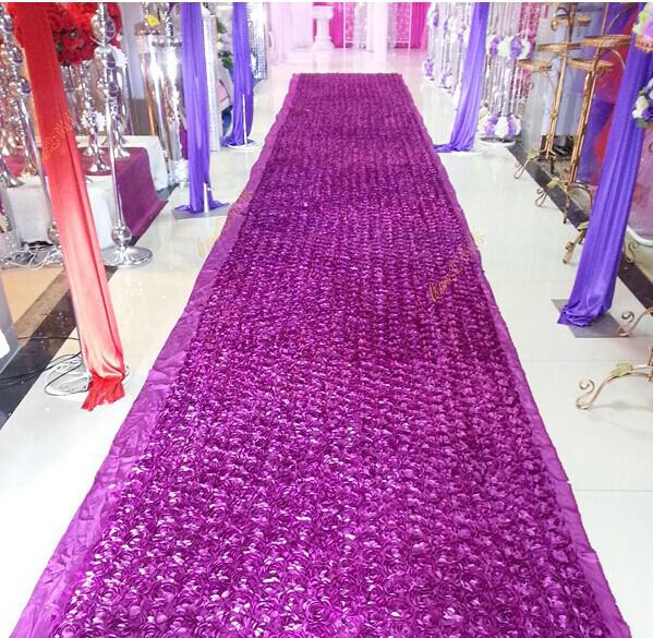 New Popular Wedding Favors Fuchsia Carpet 3d Rose Petal Aisle Runner For  Wedding Party Decorations Supplies Shooting Prop Birthday Theme Decorations  ...