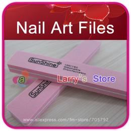 Wholesale File Good - Wholesale-407-FreeShip 20 Pcs Lot Rectangle Pink Korea Nail Art File 100 180 Washable Good Quality For Manicure Kit Wholesale Sunshine Buffe