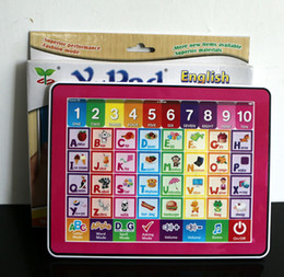 Wholesale Ypad For Kids Children - Y Pad English computer educational toys for children,Ypad learning machine kids tablet Gift with pink and blue 2 colours mixed
