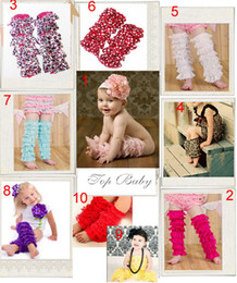 Wholesale Ruffled Leggings For Girls - 9 layer Girl lace leg warmers leggings NEW Lace Baby Leg Warmers,elastic Ruffle leggings stockings for Girls,Tights and Leggibaby Socks
