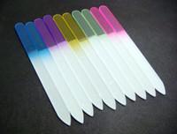 "Wholesale Glass Files - Wholesale-407-20PCS GLASS NAIL FILES CRYSTAL NAIL BUFFER NAIL CARE 5.5""  14CM"