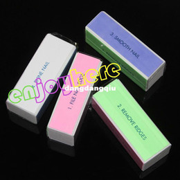 File Blocks Canada - Wholesale-407-Wholesales 100pcs lot 4 Sides Nail Art Files Buffer Block Manicure Tool Free Shipping SKU:33