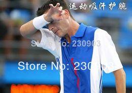 Wholesale Sweat Wrist Bands Wholesales - Wholesale-407-new 2014 promotion Sports men women Basketball Badminton Tennis Wristbands band Wrist sweat towel warm elastic Wristbands
