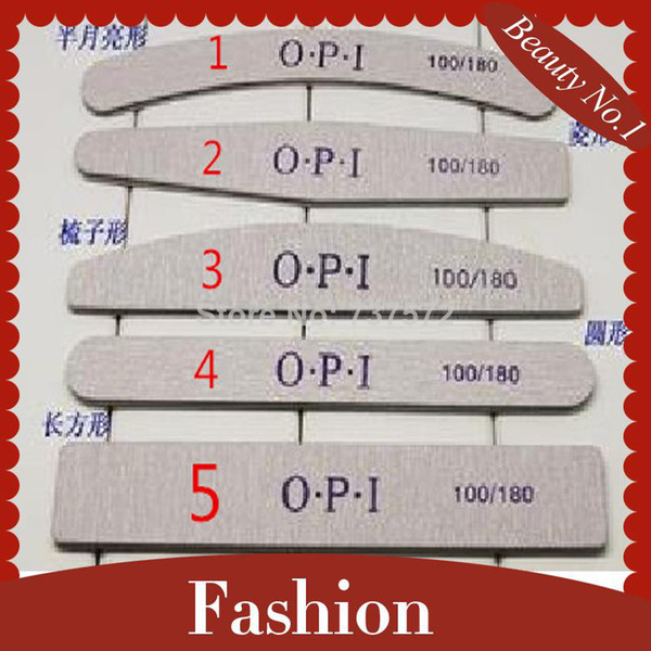 Wholesale-407-Free Shipping 50 Pieces Mix Styles Nail Files 5 Shape Sandpaper Nail Files Buffer Buffing Professional Straight Nail Files