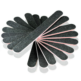 بيع بالجملة-407-Hot Sale New 2014 50 Pcs/Lot Black Art Nail Files Buffing Crescent Grit Health Care Styling Nail Tools, Free Shipping