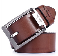 Wholesale Beaded Chain Belt - Free Shipping 2014 men's genuine leather belt casual all-match leather belts for men fashion cowskin belt