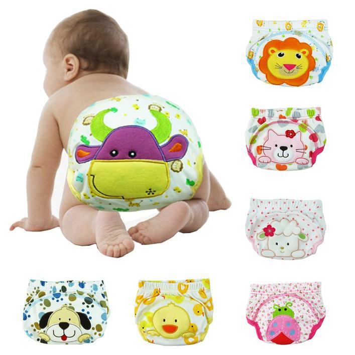 1pc Baby Girl Boy Pee Potty Training Pants Washable Cloth Diaper Nappy Underwear