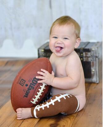 Baby Leg Warmer American Football Leg Warmer Superbowl newborn legging photo prop for toddler brown sport legging