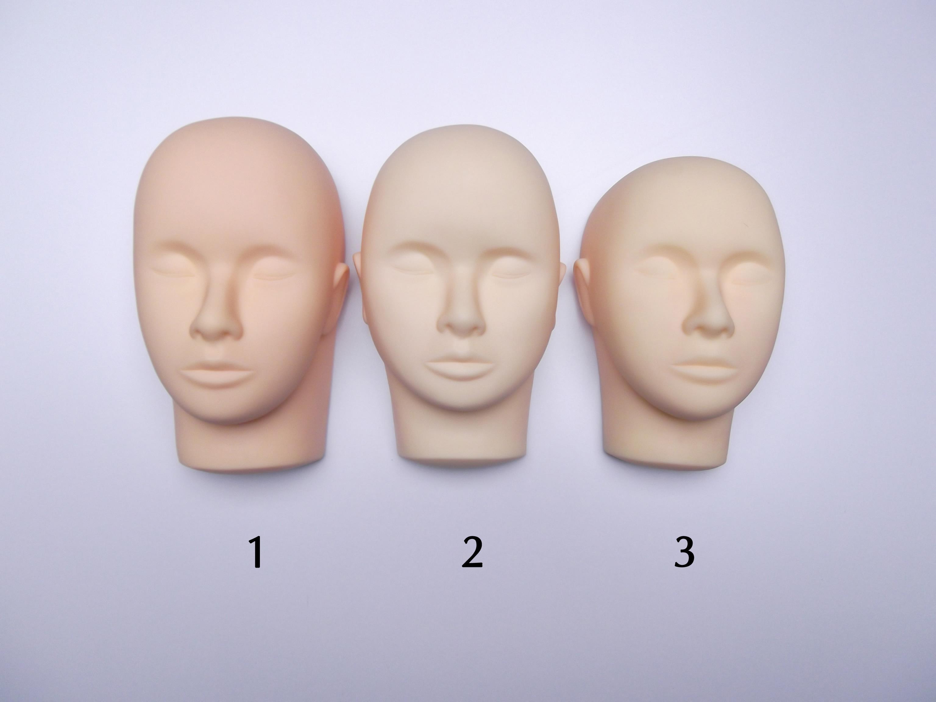 وشم أداة ماكياج 3-D التدريب المعرضة رئيس لممارسة رمش التجميل حرية الملاحة
