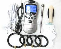 Wholesale Masturbator Urethral - Wholesale - Sex Electroshock Gear Electric Shock Kit Electro Pulse Shock Therapy Device Masturbator BDSM Adult Toys Penis Ring Urethral Plug