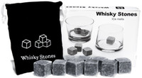 Wholesale Whiskey Glasses Stones - 9pcs bag Whisky Chilled Stones Granite Rocks Cubes For Scotch Whiskey Glass Ice Stones Rock Coolers
