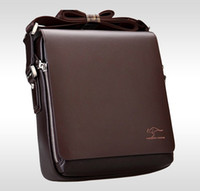 Wholesale Black Leather Laptop Briefcase - Brand Designer Men Genuine Leather Handbag Black Brown Briefcase Laptop Shoulder Bag Messenger Bag 4 size