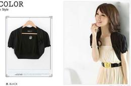 Wholesale Cotton Shrugs - 2014 korean short-sleeved outwear shawl summer women jacket coats shrug boleros for dresses and tops