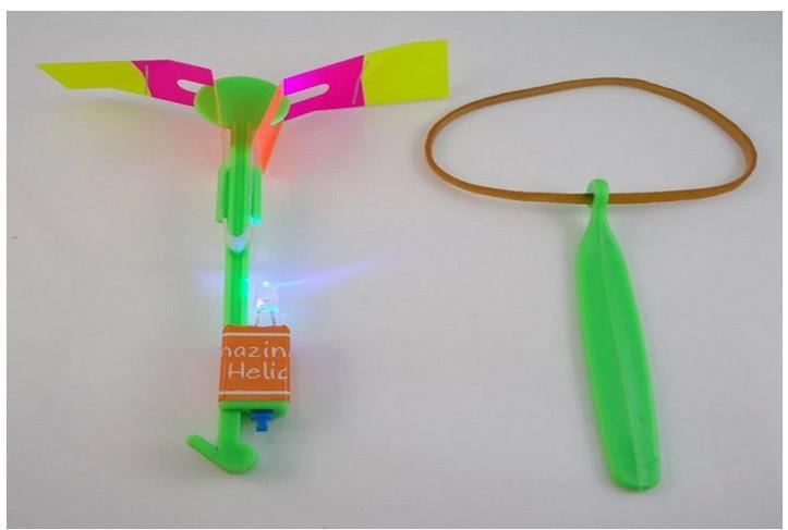 LED increíble flying flying helicóptero paraguas luz paracaídas niños juguetes ems 1000 unids / lote DHL envío gratis