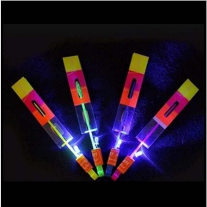 LED Amazing flying arrows helicopter umbrella light parachute kids toys 300 pcs/lot EMS free shipping