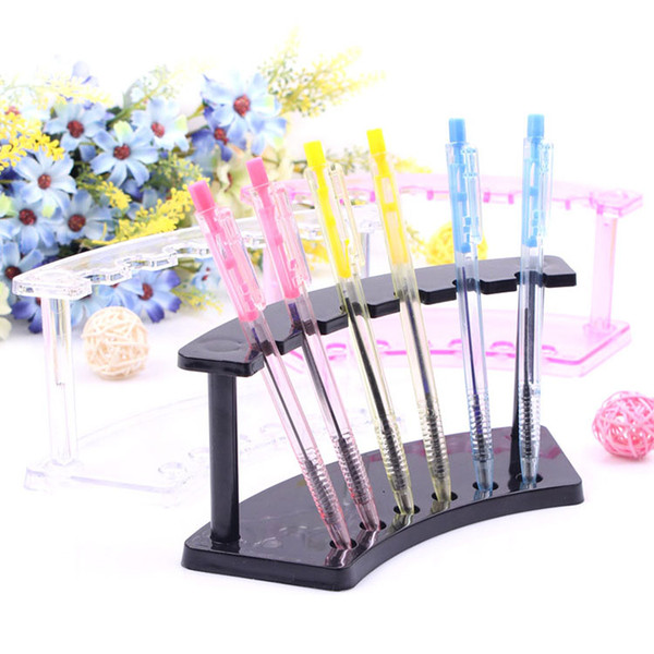 best selling Pen Display Stand Plastic 6 Booths Pen Holder e cig Display Stand Electronic Cigarette Display Stand Pen Storage Rack Shelf