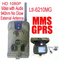 Wholesale Hunting Camera Email Mms - Ltl Acorn 6210MM 6210MG 12MP HD 1080P Mobile MMS GSM GPRS Email Scouting Hunting camera Game scouting trail Camera with extend antenna