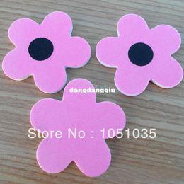 Wholesale Emery File - Wholesale-407-200 pcs flower shape mini nail file manicure tool eva nail file nail emery board dropshipping