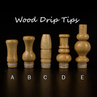 Wholesale Ce9 Tips - e-Cigarette wood drip tip Mouthpiece for electronic Cigarette eGO CE4 CE5 CE6 CE7 CE8 CE9 CE10 Protank Mini Protank Mt3 D4 D5 D6 atomizer