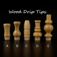 Wholesale drip tips ce6 - 014 New arrived Wooden 510 901 Drip Tips Classic wood material mouthpiece for DTC 510 CE5 CE6 Nova Atomizer