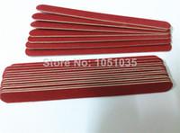 ingrosso bordo monouso-All'ingrosso-407-Spedizione gratuita in legno rosso chiodo file mini emery bordo di file monouso smeriglio in legno bordo 100 pezzi / lotto