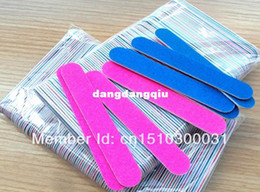 Wholesale Metal Nail Stickers - Wholesale-407-Free Shipping 500PCS Mini Nail Files Wood Files Manicure and Pedicure Trimming Tips Nail Sticker