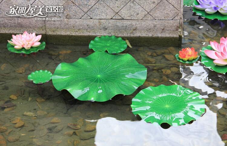 Green Plants Artificial Lotus Flower Leaf Simulation Flower leaf Artificial floating water Plants Home garden pool Decor
