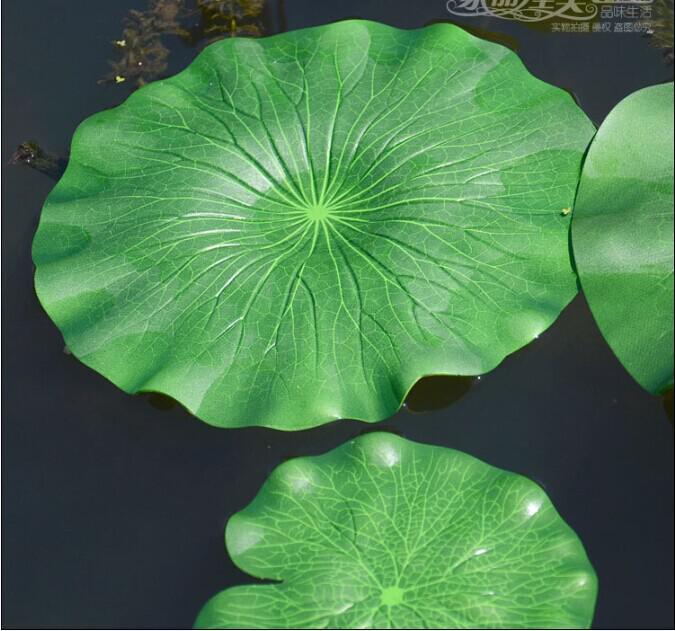 النباتات الخضراء نبات اللوتس الاصطناعي زهرة محاكاة زهرة ورقة الاصطناعي النباتات المائية العائمة الرئيسية حديقة بركة ديكور