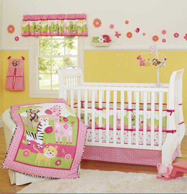 pink zebra giraffe animals girl baby crib bedding set cot kit applique embroidery 3d quilt bumper fitted sheet dust ruffle cheap kids bedding sets boys - Baby Bedding For Girls