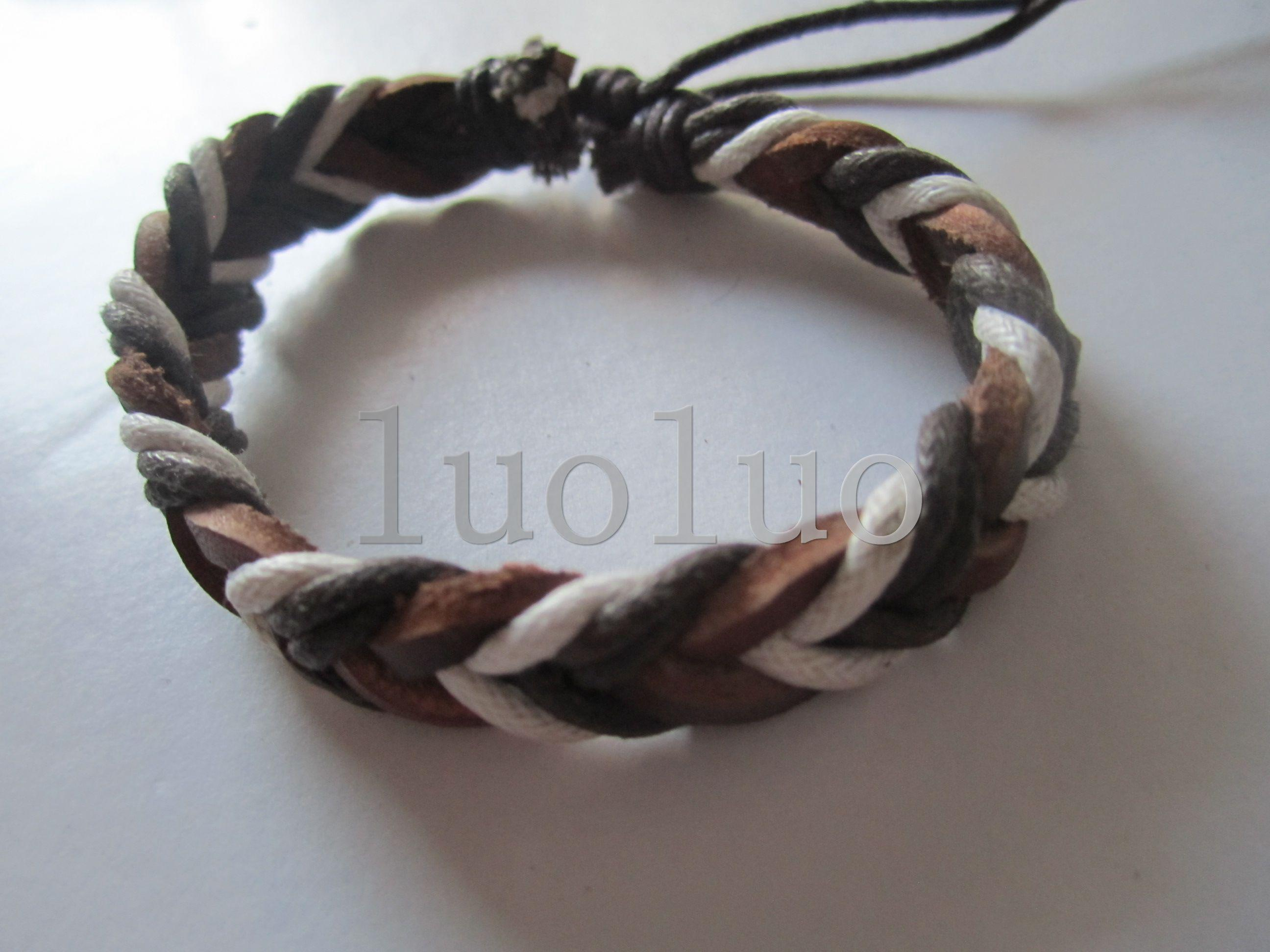 product wrap black lyst bamboo normal male bracelet in john hardy gallery and leather triple bronze jewelry
