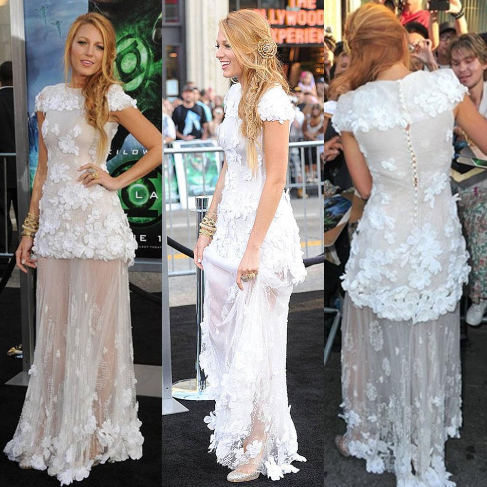 Ssj gossip girl blake lively 2015 evening celebrity red for Serena wedding dress gossip girl price