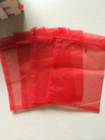 Wholesale 13x18cm organza bag - Free Ship High Quality 100pcs 13x18cm Red Organza bags Wedding Gift Bag Jewelry Pouch Hot sale