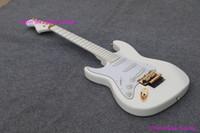 Wholesale Guitar Yngwie - 2018 left handed guitar Deep Scalloped Fretboard, Dimarzio Noiseless Pickups, Fat ST Body all white Finish, Malmste Yngwie lefty hand guitar