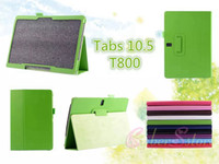 Wholesale Galaxy S Book Case - Galaxy TabS 10.5 T800 Slim Smart Folding Folio Book Luxury Litchi Magnetic Leather Case Cover Stand for Samsung Tab S TabS Super T801T805