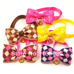 $enCountryForm.capitalKeyWord NZ - Colorful Design Pet Bow Fashion Cute Print Pet Clothing 6PCS LOT Pet Products for small dog cat Free Shipping with Gift