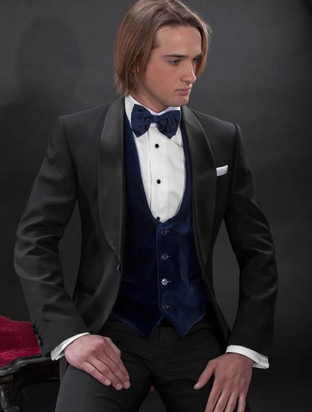 2016 New Customize Elegant Bridegrom Dinner jacket suits/Wedding tuxedo for men/Bestmen 4 pieces suits set(jacket+vest+pants+bowtie)CM-7229