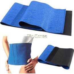 Wholesale Blue Waist Trimmer - Wholesale-407-New Arrival Adjustable Slimming Waist Belt cinchers Trimmer Exercise Weight Loss Burn Fat Sauna Body Shaper Blue #2 SV005080