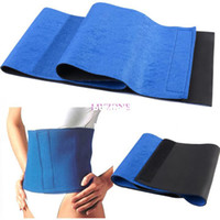 Wholesale Slimming Belt For Weight Loss - Wholesale-407-Slimming belt health care Massage belt body Massager massage Sauna belt for weight loss Body Shaper Blue #2 SV005080