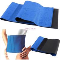 Wholesale Slim Belt For Weight Loss - Wholesale-407-Slimming belt health care Massage belt body Massager massage Sauna belt for weight loss Body Shaper Blue #2 SV005080