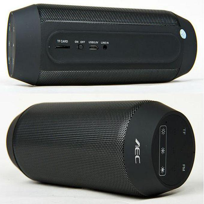 Bicicleta Portátil Esportes Mini Alto-falantes BQ-615 Alto-falante Bluetooth Sem Fio com Rádio FM Dança Mágica Colorido LED Luz Slot Para Cartão TF