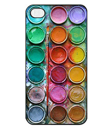 Wholesale Cool Cover Cases 4s - Wholesale New Fashion Beautiful Cool Color Paintbox Design Hard Plastic Mobile Protective Phone Case Cover For Iphone 4 4S 5 5S 5C 50pcs up