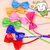 Wholesale Leather Dog Bow Tie - Hot New MultiColor Optional Adjustable Pet Dog Cat Necktie Bow Tie