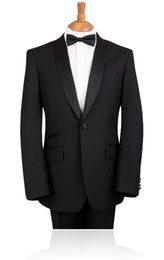 $enCountryForm.capitalKeyWord Canada - 2016 custom made Elegant Bridegrom Black stain shawl lapel Wedding tuxedo for men Bestmen 3 pieces suits set(jacket+pants+tie)CM-7252