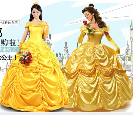 Kid  Adult Princess Belle Costume Beauty And The Beast Costume Women ... 4dae89b1c9fe