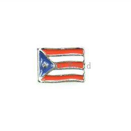 Wholesale Origami Owl Free Shipping - Wholesale ! 20 Pcs Enamel Puerto Rico Flag Floating Charms Fit Living Locket 7x5mm(W03276 X 1) For Origami Owl Free Shipping !