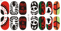 Wholesale Holiday Nail Art Stickers - 2014 New Punky Nail Wraps Mix Designs Nail Holidays Printack Polish Decal Water Proof Nail Arts Stickers High Quality 12sheets lot